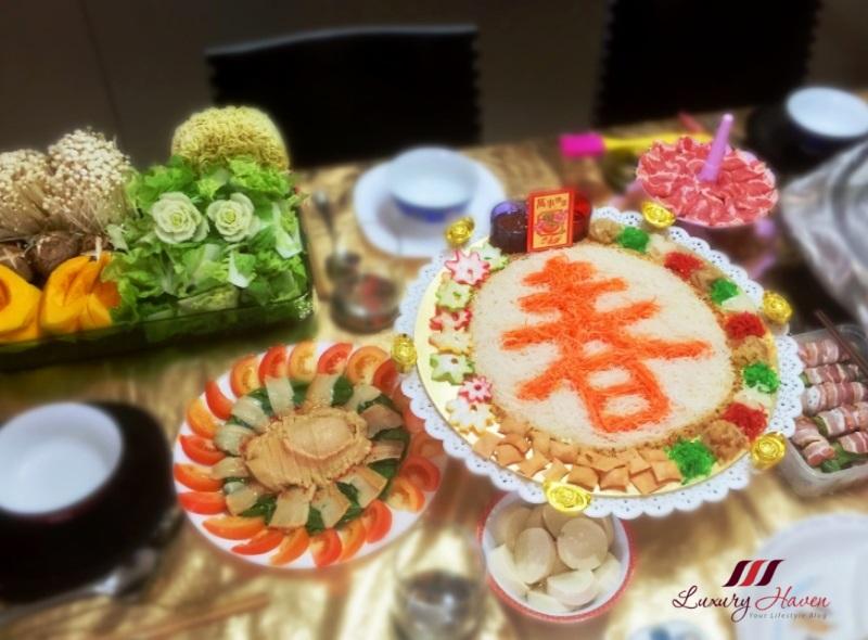 chinese festive cooking steamboat abalone yusheng lohei