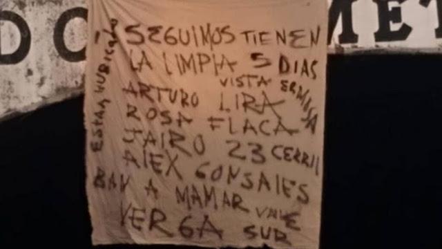 """Narcomanta; seguimos la limpia tienen 5 días, vista Hermosa, Arturo Lira, Rosa Flaca, Jairo 23 Cerril, que Alex González, van a mamar vrg, Valle Sur, están ubicados"""""""