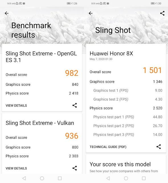 Benchmark 3DMark Honor 8X