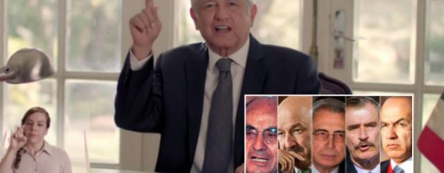 AMLO confirma que expresidentes SÍ recibirán pensión… ¡pero del ISSSTE!