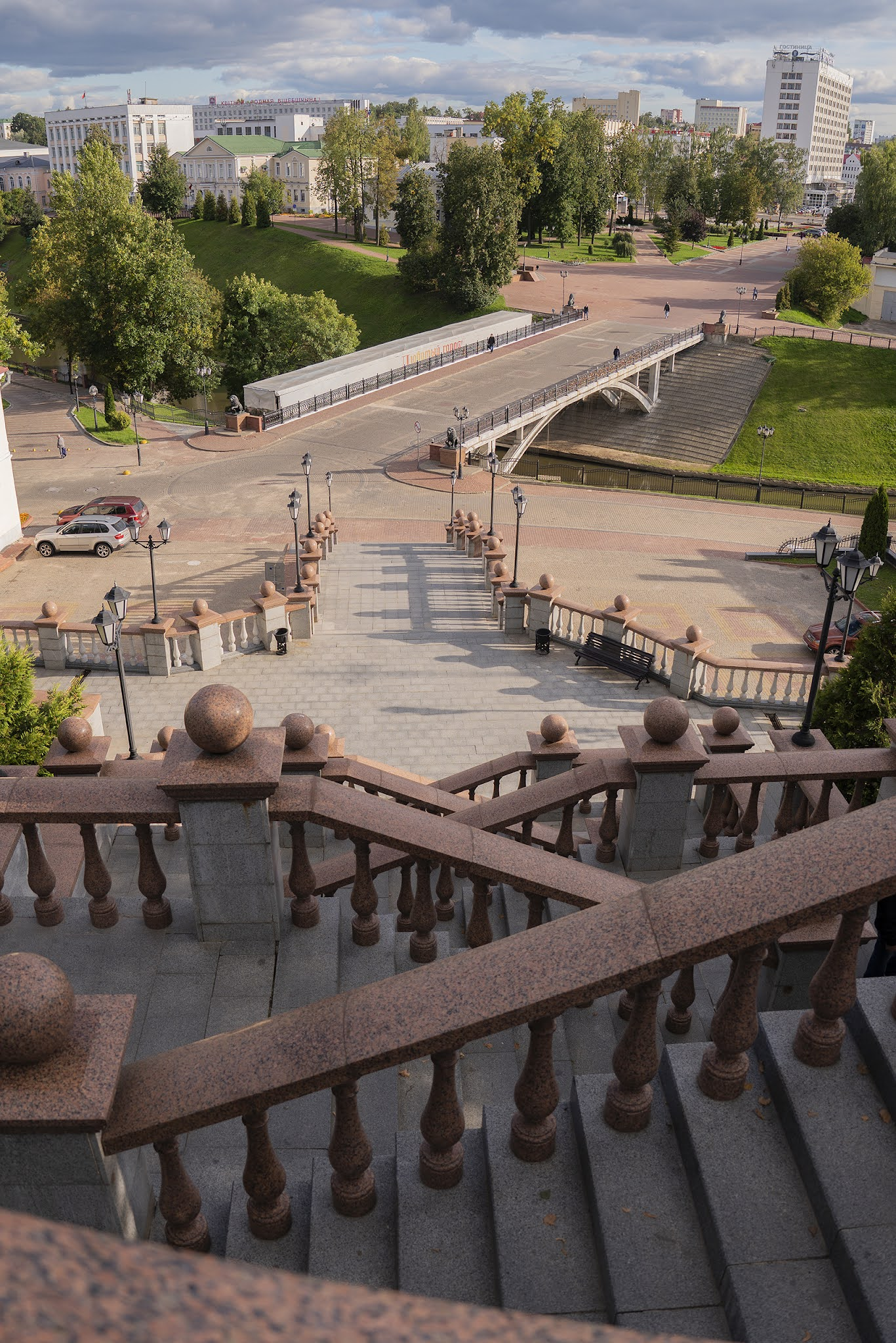 Vitebsk Park Canal Stairs Cathedral