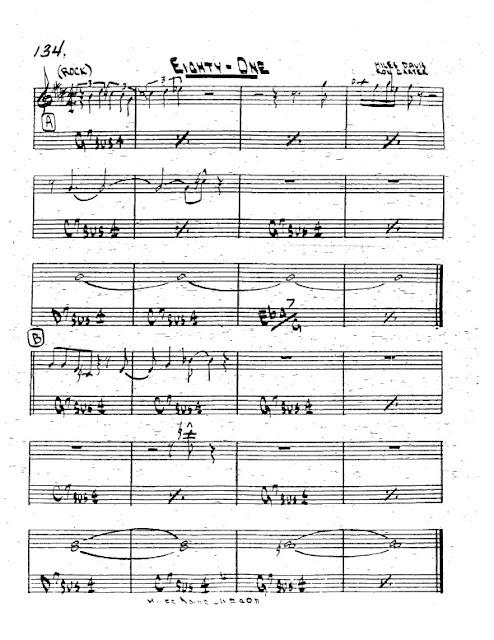 Partitura Trompeta Miles Davis and Ron Carter