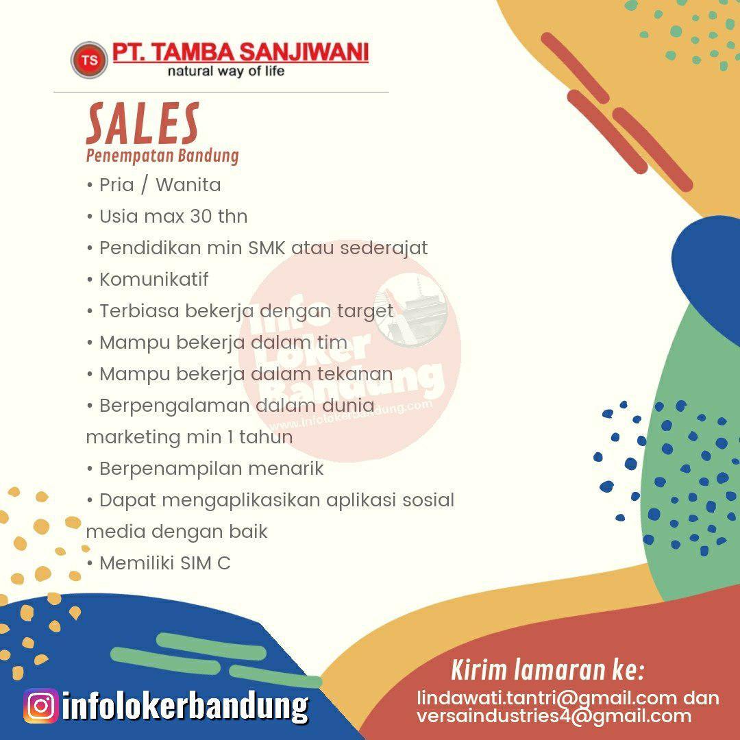 Lowongan Kerja PT.Tamba Sanjiwani Bandung Januari 2020
