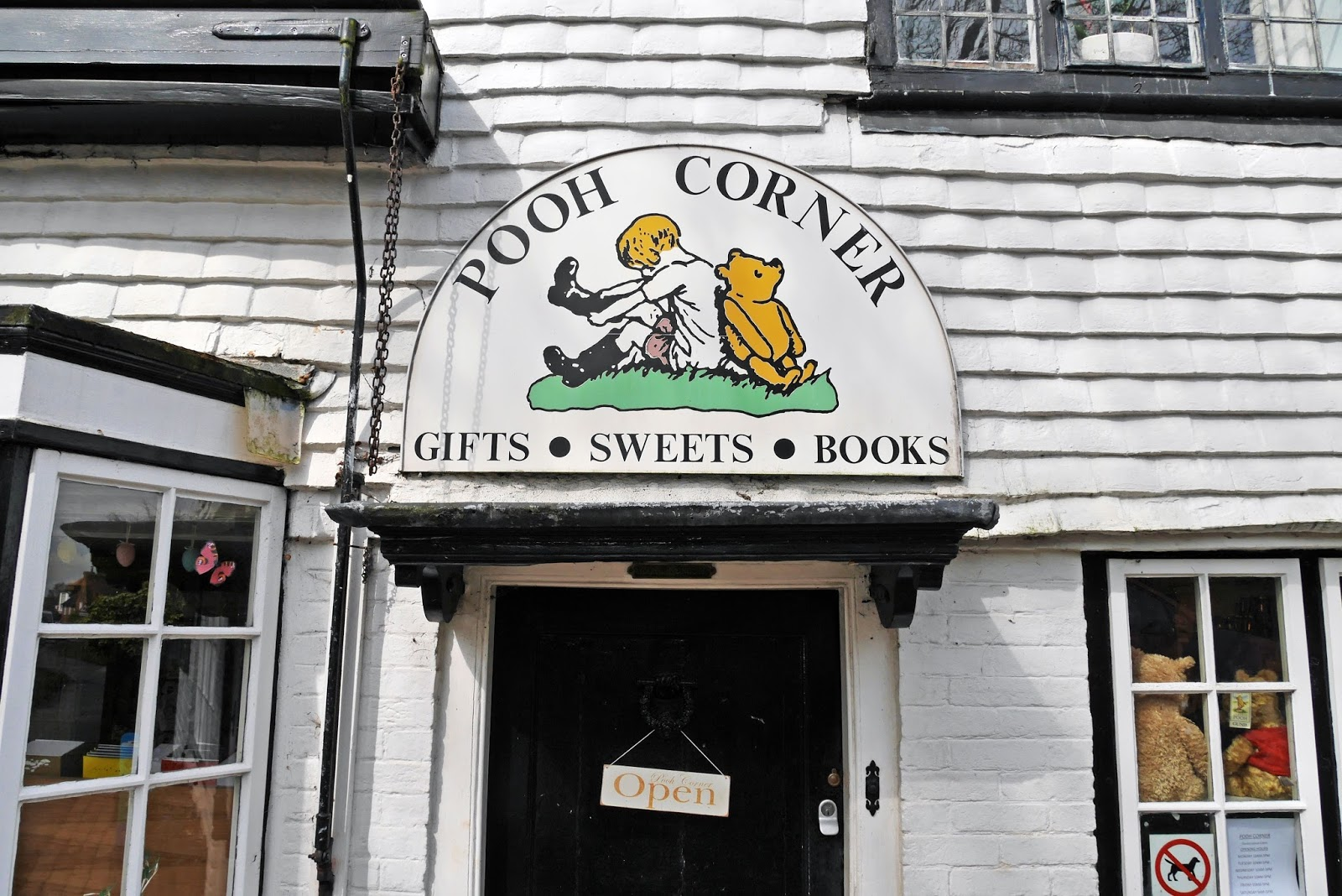 Pooh Corner gift shop sign, Hartfield