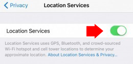 Turn off iphone location