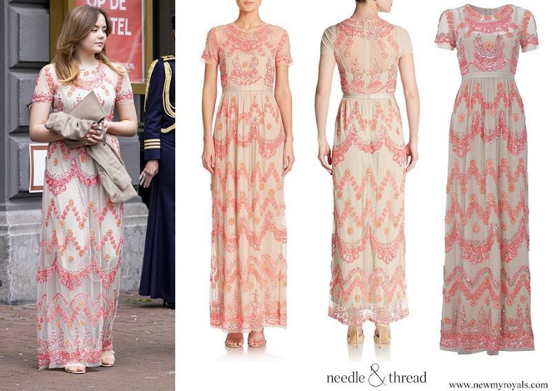 Princess Ariane Needle & Thread tier maxi beaded dress