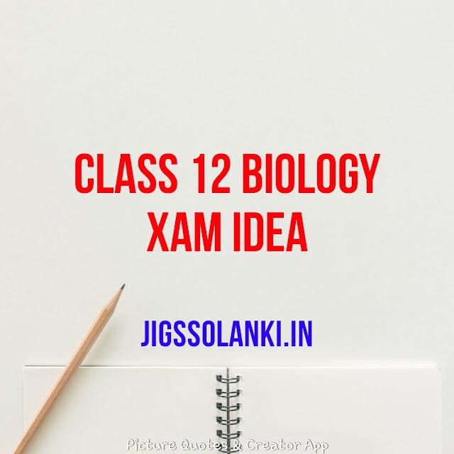 CLASS 12 BIOLOGY XAM IDEA