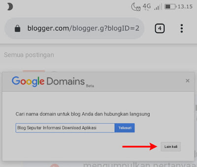 Tawaran domain dari google