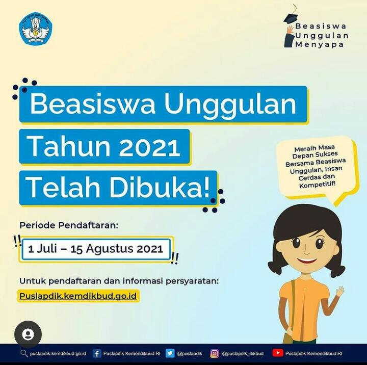 Kemendikbudristek Membuka Beasiswa Unggulan 2021, Berikut Persyaratan Pendaftaran