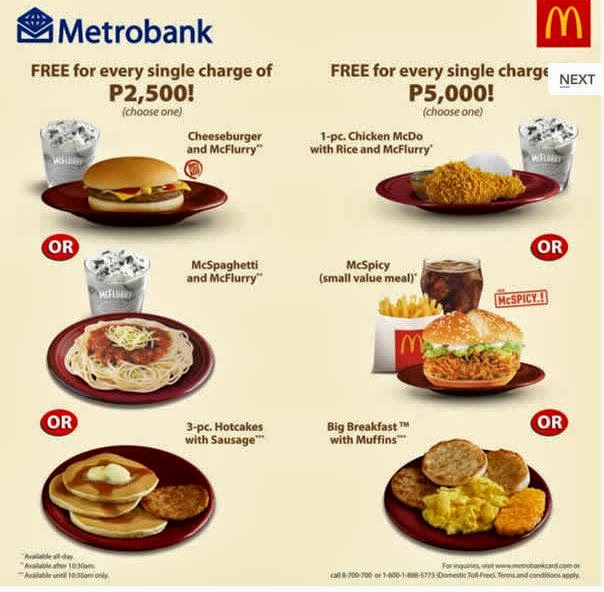 Metrobank, McDonald's Spend Anywhere Program, Metrobank credit card promo, Philippines promo