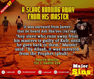 MAJOR SIN. 57. A SLAVE RUNNING AWAY FROM HIS MASTER