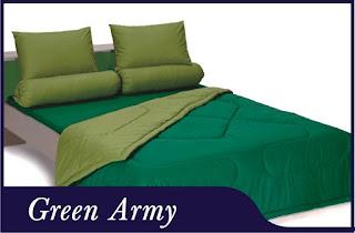 Sprei & Bedcover Shyra Polos - Green Army
