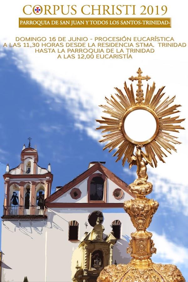 Procesión eucarística desde la residencia Santísima Trinidad de Córdoba este Domingo