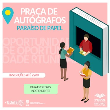 Bienal de Alagoas abre espaço para escritores independentes lançarem suas obras