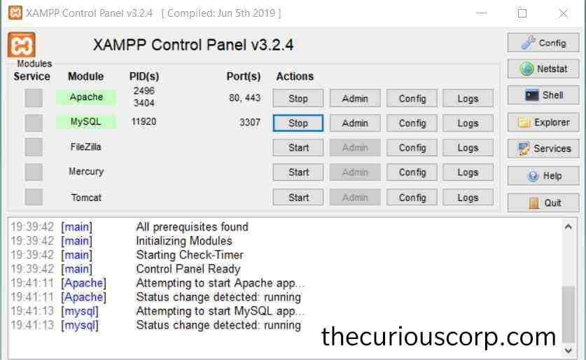 XAMPP download for windows 7/8/8.1/10