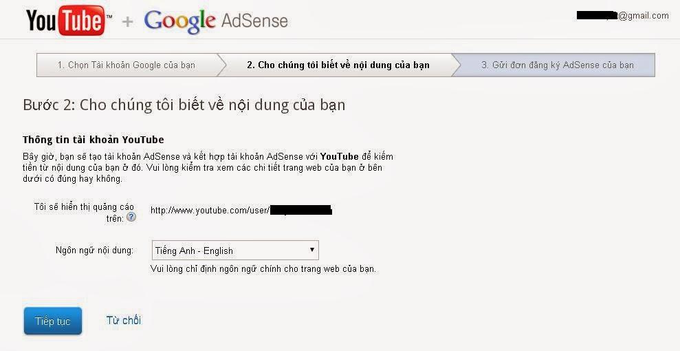 Cách đăng ký Google Adsense thông qua Youtube 2014