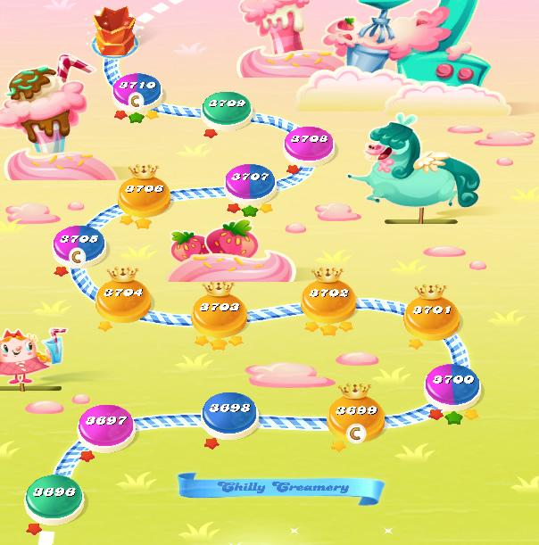 Candy Crush Saga level 3696-3710