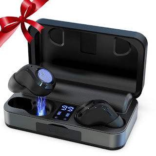 True Wireless Earbuds, Bluetooth 5.0 Headphones Waterproof 7 Hours Continuous Playtime