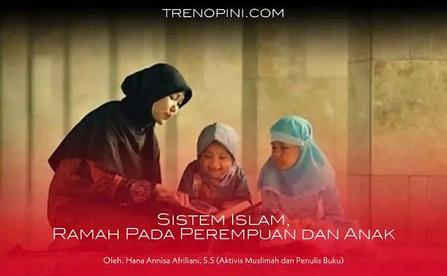 Jika sistem sekuler liberal hari ini melahirkan para predator seksual, maka sistem Islam melahirkan suasana aman dan tentram bagi kaum perempuan dan anak. Sebab sistem Islam memayungi mereka dengan aturan yang mampu menciptakan keamanan hakiki.