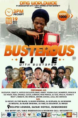 busta%2Bpop%2B01 - ENTERTAINMENT: Busterous Live with Bustapop and Friends (DMG Worldwide)... Photos
