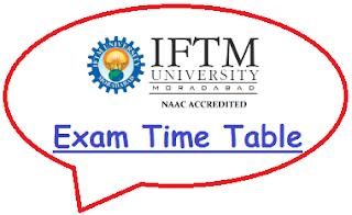 IFTM University Exam Date Sheet 2019