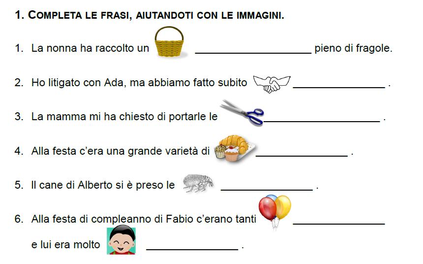 Extrêmement Guamodì Scuola: Schede di italiano per la classe II (primaria), da  GW52
