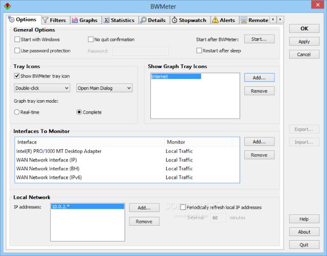 BWMeter 8.4.2 - Quản lý băng thông Internet