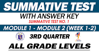 SUMMATIVE TEST NO. 1 with Answer Key (Quarter 1: Modules 1-2)