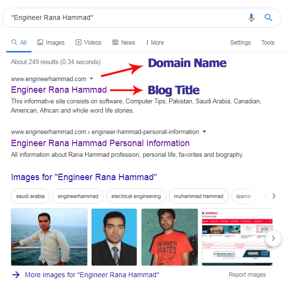 Google Domain and Title