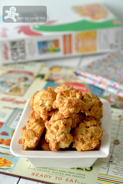 golden crunchy milky Honey Cornflakes Cookies