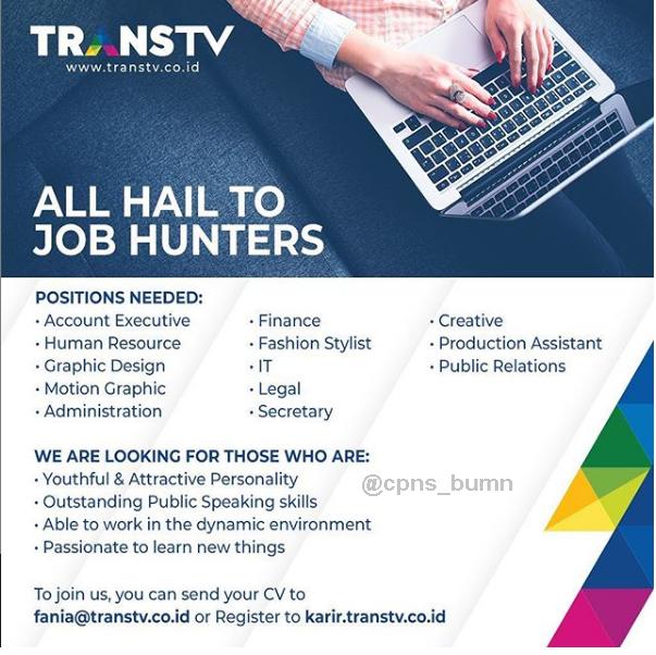 Lowongan Kerja TRANS TV Besar Besaran April 2019
