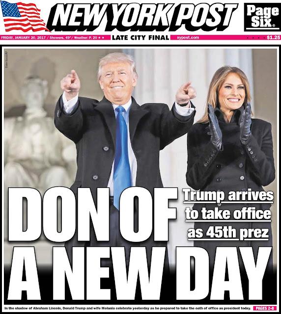 donald trump Inauguration Day ny post cover