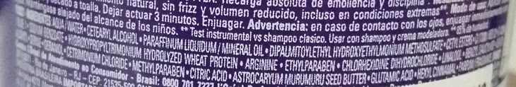 Ingredientes Máscara Absolut Control Loreal