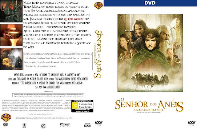 Capa DVD O Senhor Dos Anéis A Sociedade Do Anel [Exclusiva]