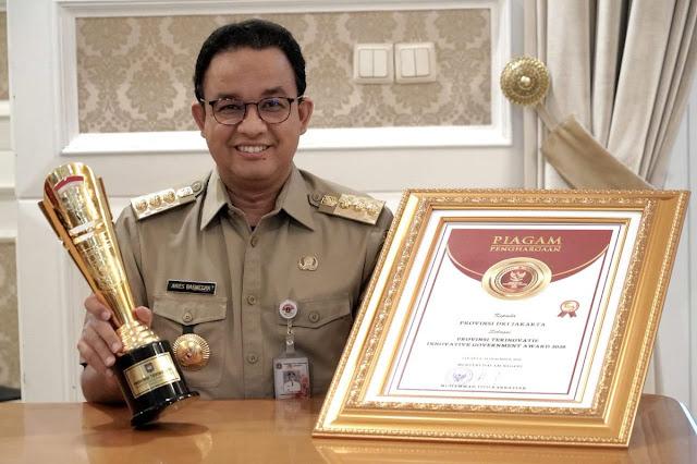 Pemprov DKI Jakarta Memperoleh Penghargaan Sabagai Provinsi Terinovatif