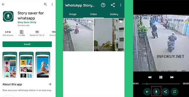 cara download status whatsapp dengan story saver