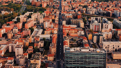 HD Wallpaper City, Buildings, Aerial View, Cityscape