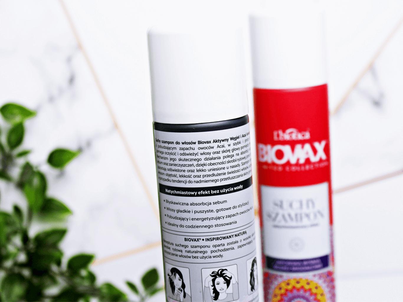 Lbiotica suchy szampon japońska wiśnia i mleko migdałowe Lbiotica suchy szampon aktywny węgiel i acai amazońskie