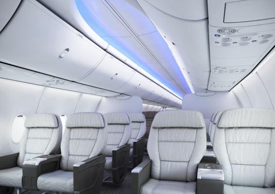 Boeing 737 MAX 9 cabin interior