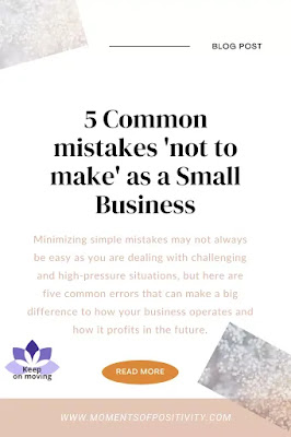 5 Common mistakes 'not to make' as a Small Business