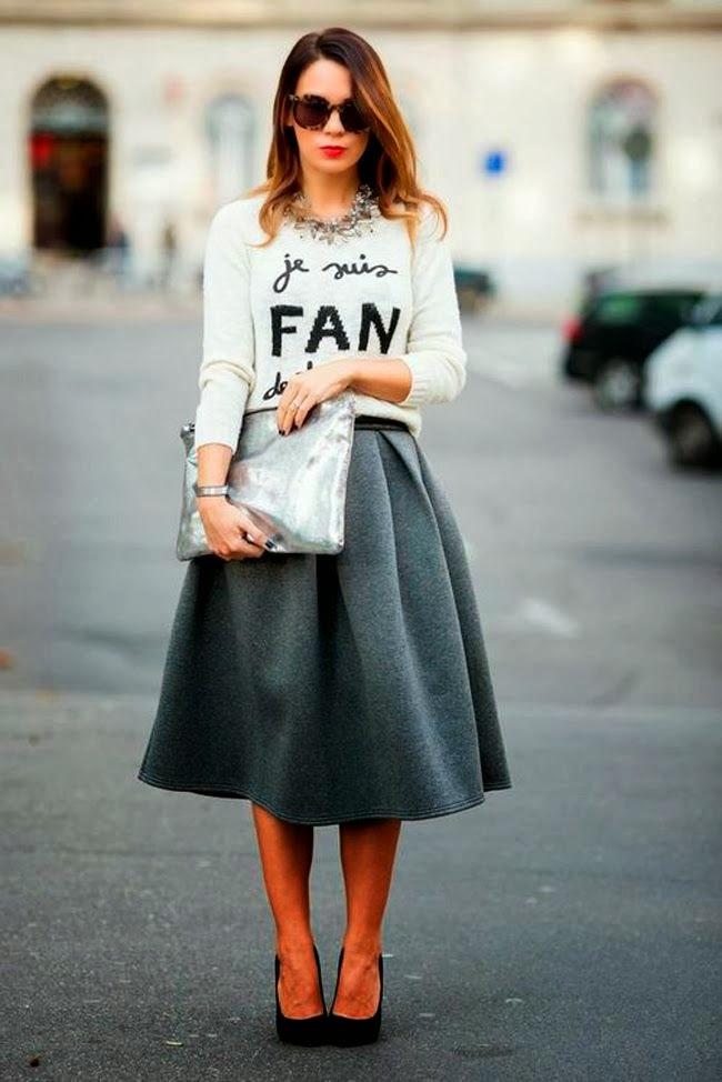 8a6ec54dba ♥Estas faldas me parecían difíciles de combinar