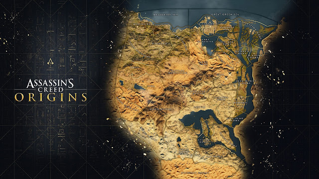 Se desvela el abismal mapa de Assassin's Creed Origins