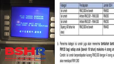 Tarikh Pembayaran BSH Fasa 3 Bagi Isi Rumah & Tambahan RM480 Untuk Anak