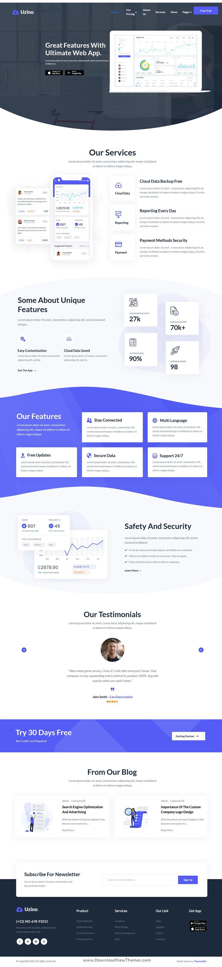 Startup App Elementor Template Kit