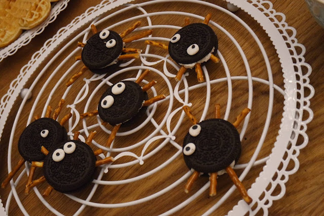 oreo spinnen selbstgemachte zuckeraugen halloween treets