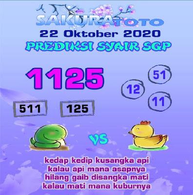 Kode syair Singapore Kamis 22 Oktober 2020 185