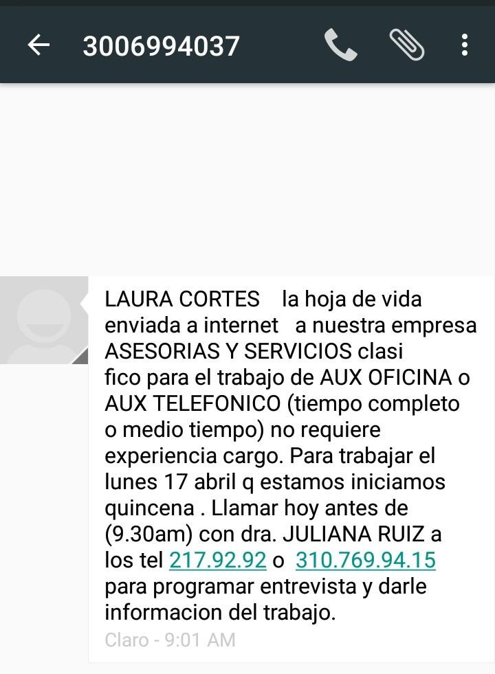 empleos falsos colombia piden dinero