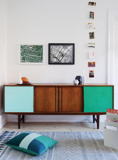 A Credenza DIY using Wallpaper - design addict mom