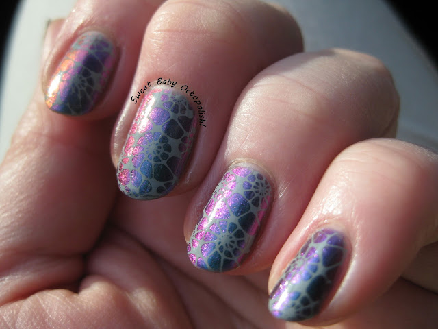 POP Polish Slick Like That with stamping