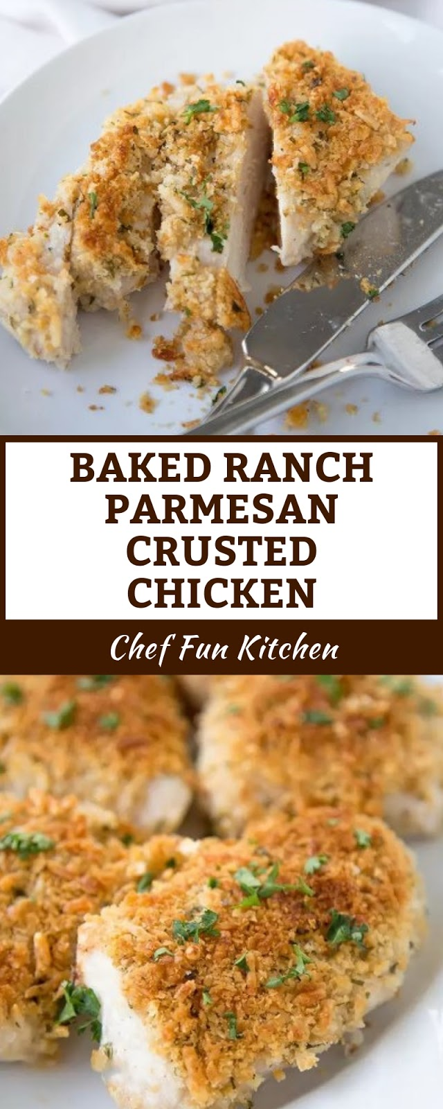 BAKED RANCH PARMESAN CRUSTED CHICKEN